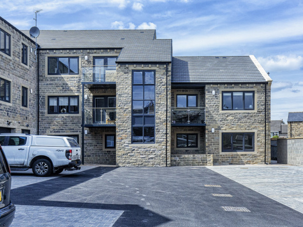 Rear view - apartments at Fisher Green in Honley