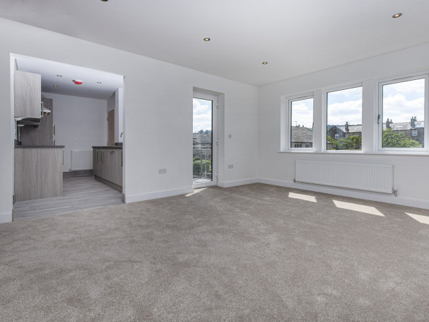 Spacious new apartment to let at Fisher Green, Honley