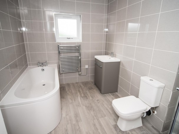 Bathroom at new homes at Church View, Kirkheaton.