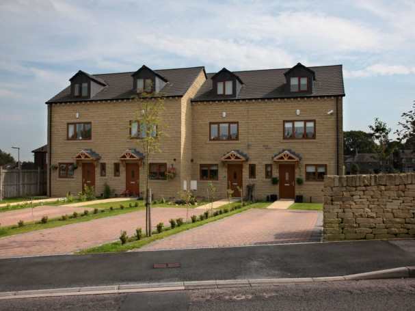 Four 3 bedroom town houses in Meltham.